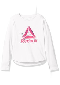 Reebok Big Girls' Long Sleeve or 3/4 Tee 3008-True White