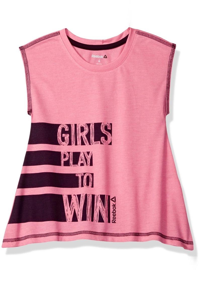 Reebok Big Girls' Play to Win Tee  Small ()