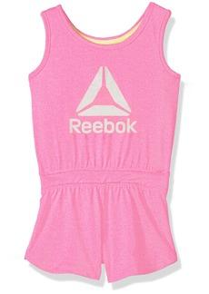 Reebok Big Girls' Romper Heather Pink-Cxobxp
