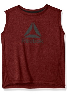 Reebok Boys' Big Athletic Tank Shirt Heather Red-BBXOF
