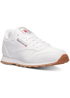 Reebok Big Boys' Classic Leather Casual Sneakers from Finish Line