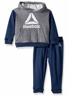 Reebok Boys' Toddler Play to Win Pullover Fleece Hoodie and Jog Pant