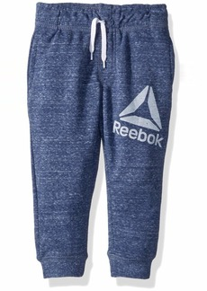 Reebok Boys' Toddler Snow French Terry Pull-On Pant Blue