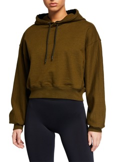 Reebok by Victoria Beckham Cropped Pullover Hoodie