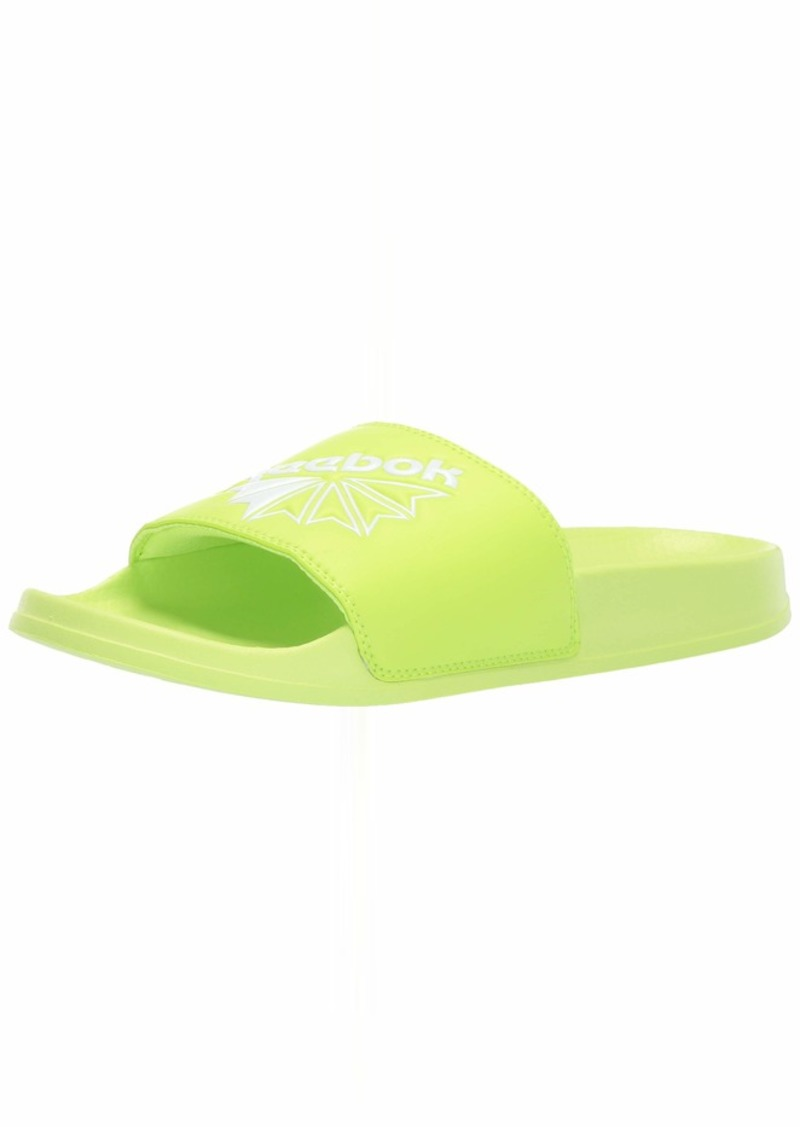 Reebok Classic Slide Slipper neon Lime/White/Diagonal STARCREST  M US