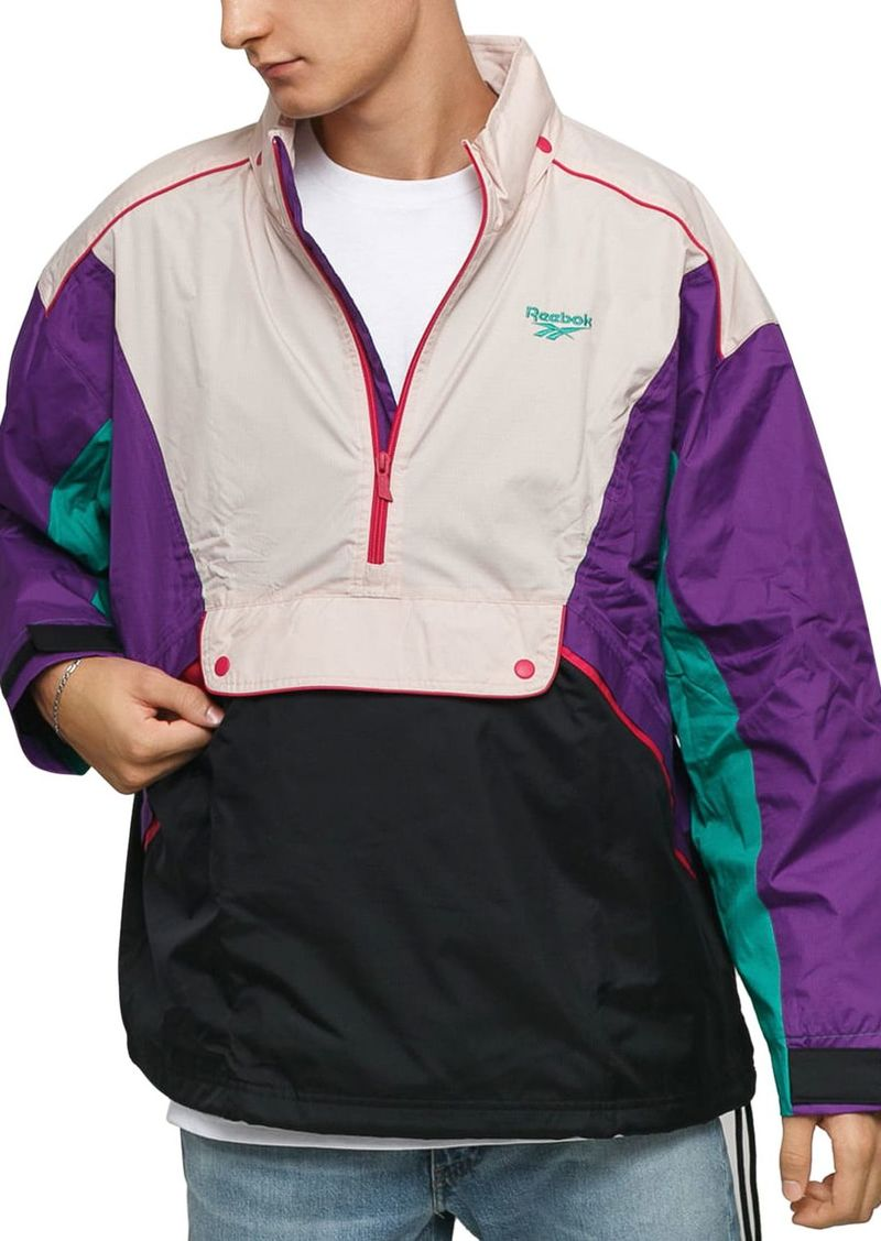 Reebok Color-Block Half-Zip Trail Jacket