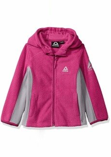 Reebok Girls' Big Active Hooded Polar Fleece Jacket Fuschia