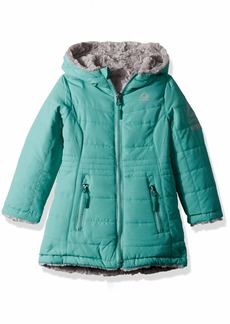 Reebok Girls' Big Active Hooded Reversible to Faux Fur Jacket