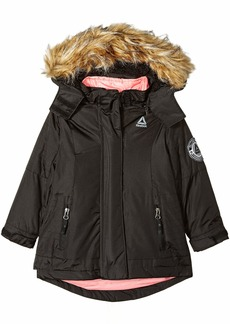 Reebok Girls' Big Active Systems Jacket with Faux Fur  10/12