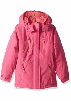 Reebok Girls' Big Active Systems Jacket with Inner Fleece Fuschia