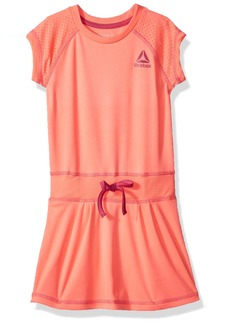 Reebok Girls' Big Casual Dress Hot Coral-CXOXOK