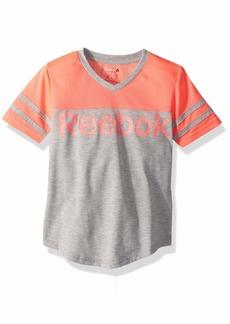 Reebok Girls' Big Mesh Collegiate T-Shirt  8/10
