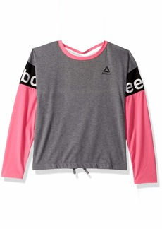 Reebok Girls' Big Slit Back Long Sleeve T-Shirt