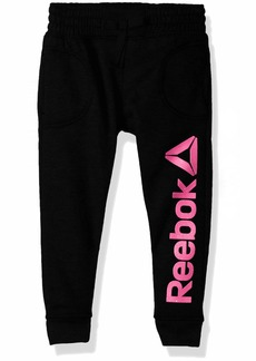 Reebok Girls' Big Spun Poly Fleece Comfy Jog Pant