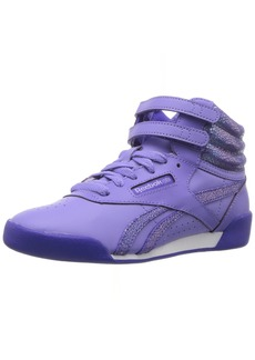 Reebok Girls' Freestyle Hi Sneaker CD-MOONPOOL/Ultima Purple