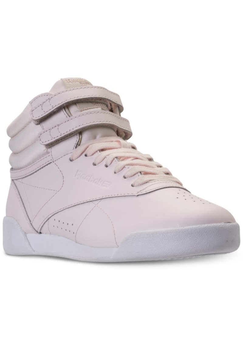 e06f3ec6b7ebc Big Girls  Freestyle High Top Muted Casual Sneakers from Finish Line. Reebok