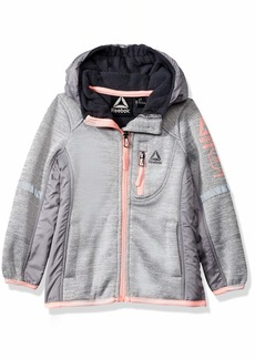 Reebok Girls' Little Active Hooded Fleece Jacket