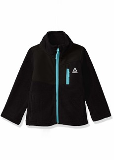 Reebok Girls' Little Active Polar Fleece Jacket with No Hood