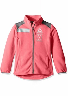 Reebok Girls' Little Active Polar Fleece Jacket with Reflective Details
