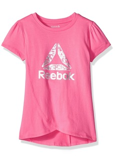 Reebok Girls' Little Athletic T-Shirt Azalea Pink-CXODD
