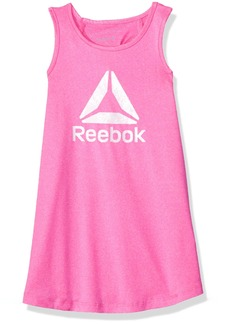 Reebok Girls' Little Athletic Tank Shirt Heather Pink-CXOBF 6X