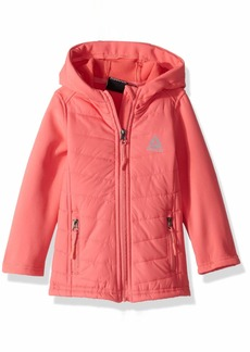 Reebok Girls' Toddler Active Quilted Softshell Jacket