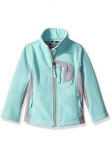 Reebok Girls' Toddler Active Softshell Full Zip Jacket