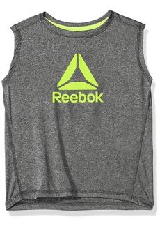 Reebok Little Boys' Athletic Tank Shirt Black/Heather Grey-Bbxof