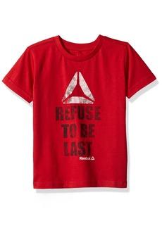 Reebok Little Boys' Short Sleeve Tee 2021-Haute Red