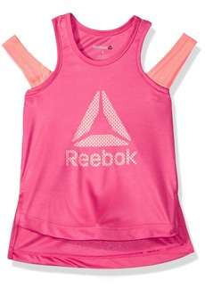 Reebok Little Girls' Athletic Tank Shirt Magenta-Cxoxoc