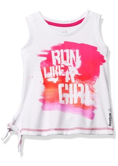 Reebok Little Girls' Run Like a Tee  XL