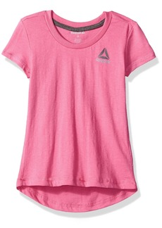 Reebok Little Girls' Short Sleeve Tee 3012-Azalea Pink