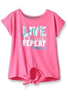 Reebok Little Girls' Short Sleeve Tee 3016-Azalea Pink