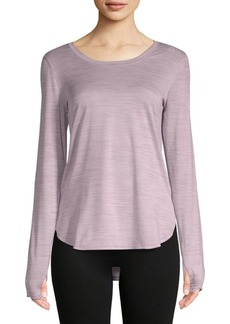 Reebok Long-Sleeve Scoopneck Top