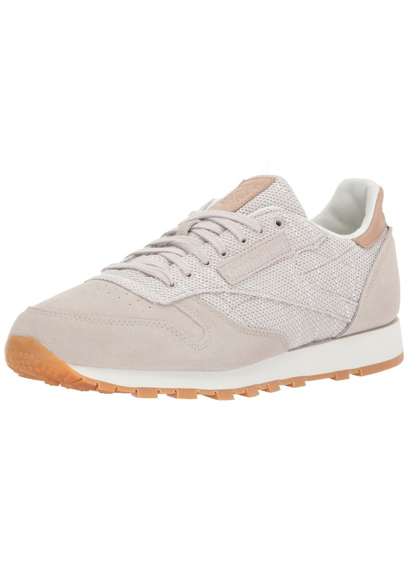 Reebok Men's CL Leather EBK Sneaker Sandstone/Chalk-Gum  M US