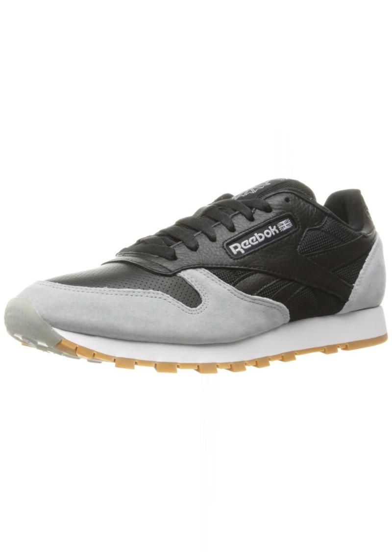 Reebok Men's CL Leather SPP Fashion Sneaker Black/Cloud Grey/Gum  M US