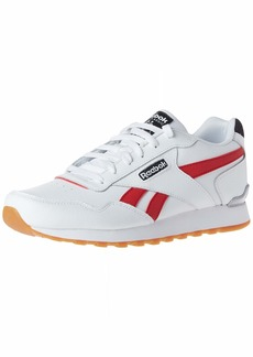 Reebok Men's Classic Harman Run Clip Sneaker white/excellent Red/Black  M US