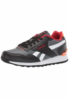 Reebok Men's Classic Harman Run Sneaker Black/Alloy/Primal red/Solar Orange/White  M US