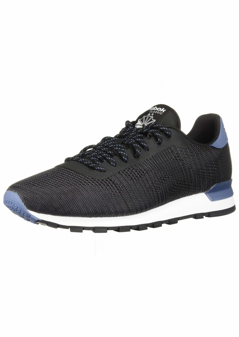Reebok Men's Classic Leather Sneaker Black/ash Grey/Blue Slate  M US