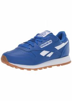 Reebok Men's Classic Leather Sneaker Humble Blue/White Rubber Gum  M US