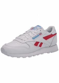 Reebok Men's Classic Leather Sneaker white/vector red/horizon blue M US