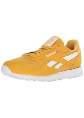 Reebok Men's Classic Leather Walking Shoe Estl-Fierce Gold/White  M US