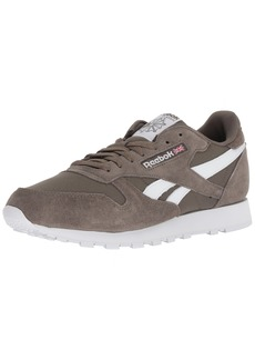 Reebok Men's Classic Leather Walking Shoe Estl-Terrain Grey/White  M US