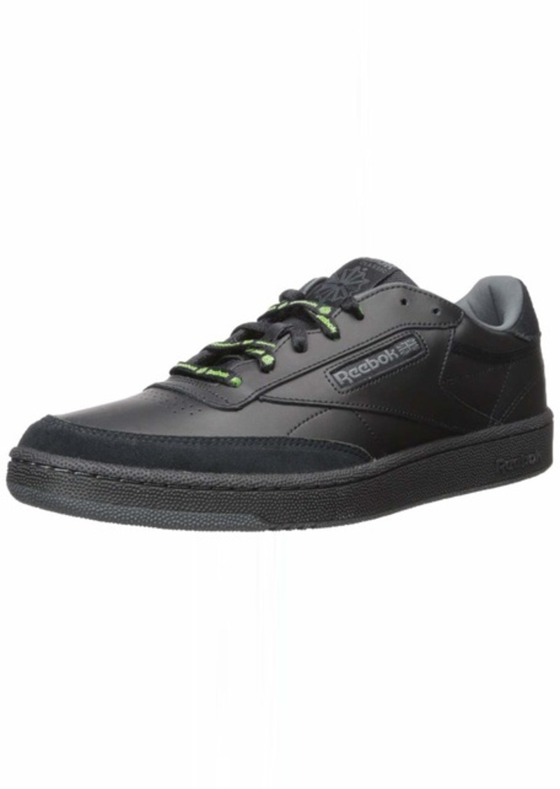 Reebok Men's Club C 85 Sneaker Black/True Grey/neon Lime  M US