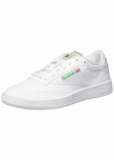 Reebok Men's Club C 85 Sneaker chalk/paper white/glen green  M US