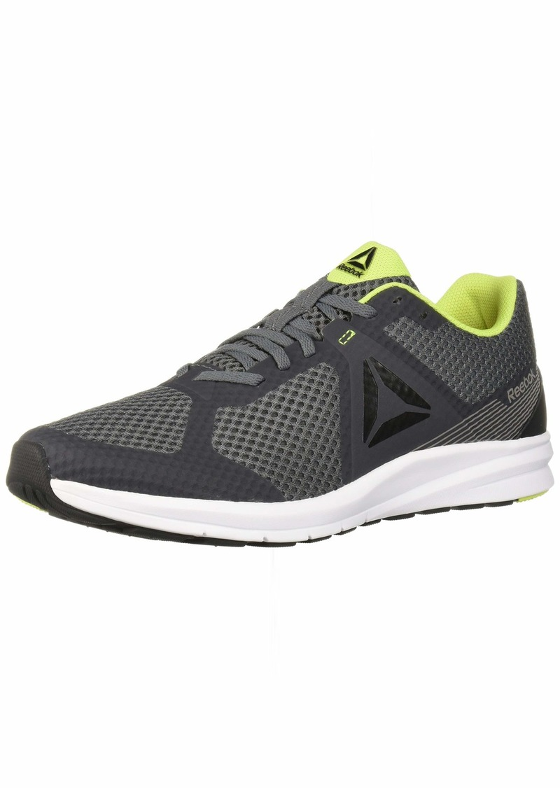 Reebok Men's Endless Road Running Shoe Cold Grey/Black/neon 10 4E US