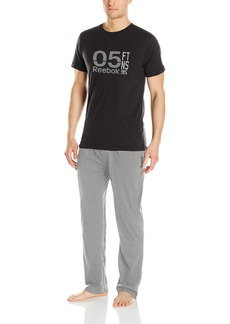 Reebok Men's Gift Box: Graphic Short Sleeve Crew and Knit Pants