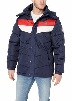 Reebok Men's Heavy Weight Hooded Bubble Jacket  XL
