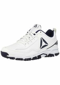 Reebok Men's Ridgerider Leather 4E Sneaker White/coll. Navy - Wide e 8 US