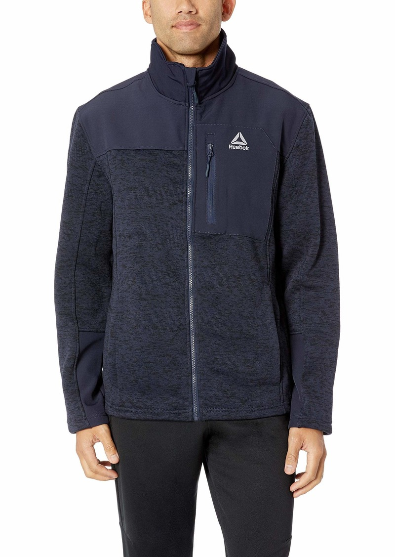 Reebok Men's Softshell Active Jacket Systems Navy L